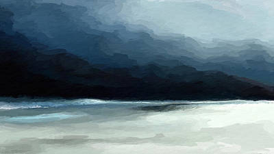 Mixed Media - Beach Storm by Anthony Fishburne