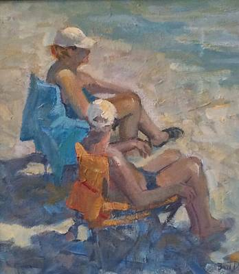 Painting - Beach Sunday by Bart DeCeglie