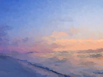 Beach Landscape Mixed Media - Beach Sunset by Anthony Fishburne