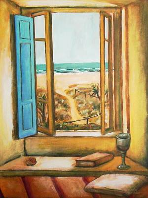 Painting - Beach Window by Winsome Gunning