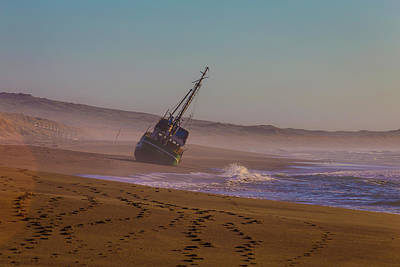 Beached Boat Print by Garry Gay