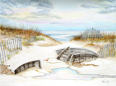 Beached Boats Art Print by Pauline Ross