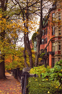 Beacon Hill Art Print by Joann Vitali