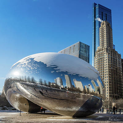 Photograph - Bean Reflections by Framing Places