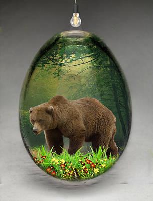 Mixed Media - Bear Art by Marvin Blaine