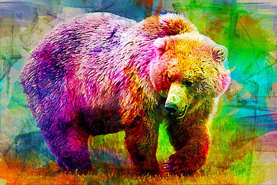 Bear Art Print by Elena Kosvincheva