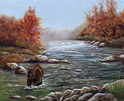 Painting - Bear In Fall by Dorothy Riley
