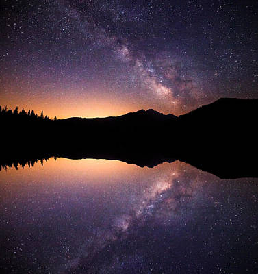 Darren Photograph - Bear Lake Milky Way by Darren  White