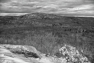 Photograph - Bear Mountain In Black And White by Raymond Salani III