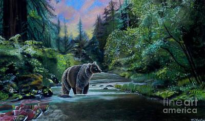 Pastel - Bear Sunrise by Michaeline McDonald