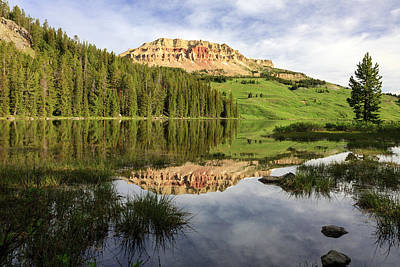 Photograph - Beartooth Butte Reflections by Jack Bell