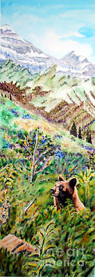 Painting - Beary Picking by Tracy Rose Moyers