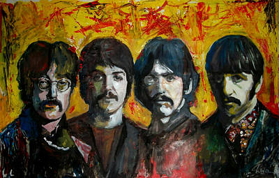 Pepper Painting - Beatles by Marcelo Neira