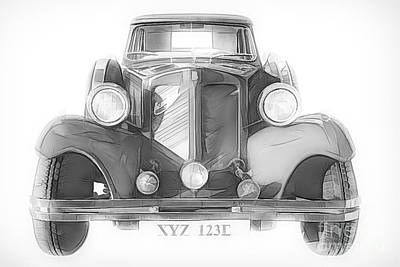 Mixed Media - Beauford Classic Car by Linsey Williams