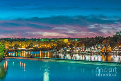 Photograph - Beautiful Boathouse Row by David Zanzinger