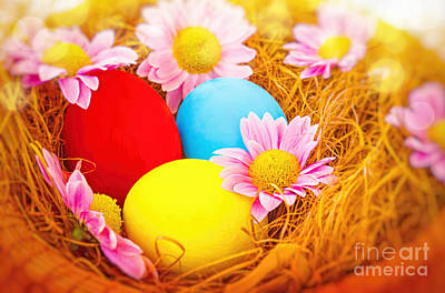 Photograph - Beautiful Easter Still Life by Anna Om