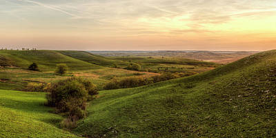 Scott Bean Rights Managed Images - Beautiful Flint Hills Evening Royalty-Free Image by Scott Bean