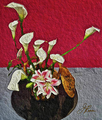 Painting - Beautiful Floral Design by Joan Reese