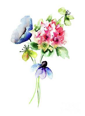 Painting - Beautiful Flowers by Regina Jershova