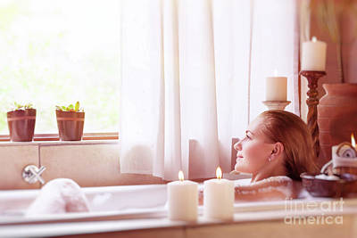 Photograph - Beautiful Girl In The Spa Hotel by Anna Om