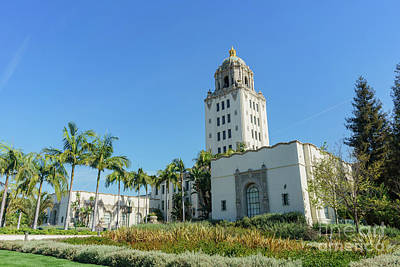 Beautiful Main Building Of Beverly Hills City Hall Art Print