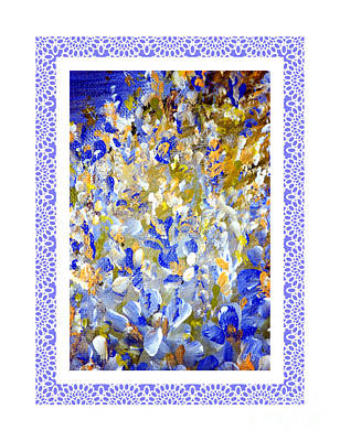 Painting - Beautiful.  Flowers Painting In A White Frame by Oksana Semenchenko