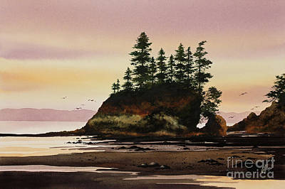 Art Print featuring the painting Beautiful Shore by James Williamson