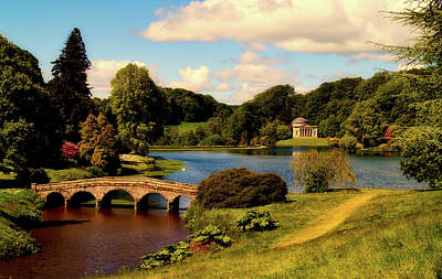 Photograph - Beautiful Stourhead Estate Grounds - Yorkshire, England by Pixabay