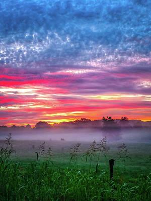 Photograph - Beautiful Sunrise Over Farmland In South Carolina by Alex Grichenko
