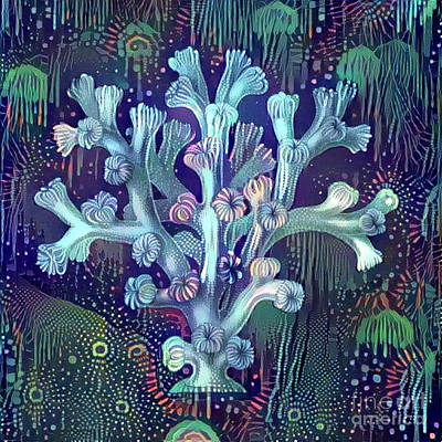 Aquatic Digital Art - Beautiful Undersea Coral by Amy Cicconi