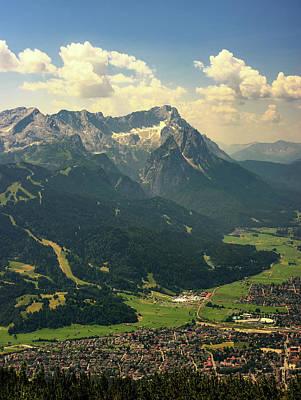 Photograph - Beautiful View At Highest Mountain Peak Zugspitze And Alpspix With Garmisch Partenkirchen, Bavaria, Germany. by Marek Kijevsky