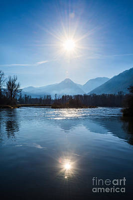 Beautiful View From Waterfront Park In Leavenworth, Washington S Art Print by Jamie Pham