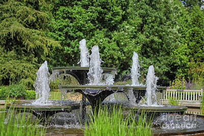 Photograph - Beautiful Water Fountain In Garden by Patricia Hofmeester