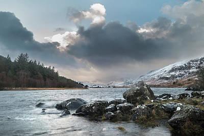 Llynnau Mymbyr Photograph - Beautiful Winter Landscape Image Of Llynnau Mymbyr In Snowdonia  by Matthew Gibson