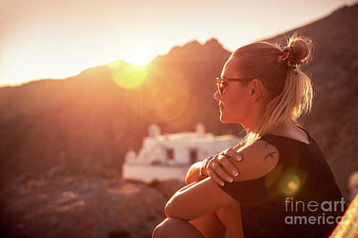 Photograph - Beautiful Woman Enjoying Travel by Anna Om