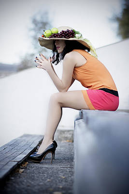 Photograph - Beautiful Woman With Interesting Hat by Newnow Photography By Vera Cepic