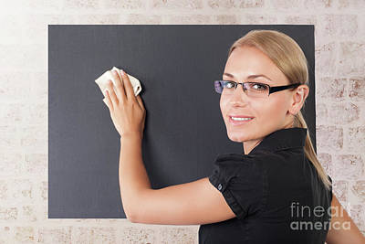 Photograph - Beautiful Young Teacher Portrait by Anna Om