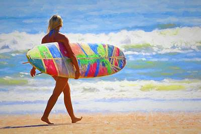 Photograph - Beauty And Her Board by Alice Gipson