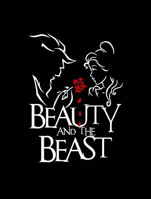 Beauty And The Beast Drawing - Beauty And The Beast by Francis Lamoste