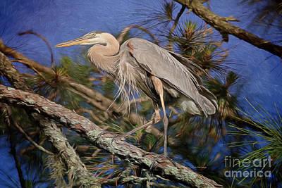 Blue Topaz Painting - Beauty In The Pines by Deborah Benoit