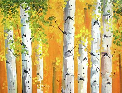 Painting - Beauty Of Autumn Forest by Samiran Sarkar