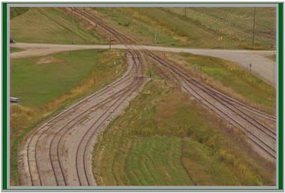Mixed Media - Beauty Of Canadian Railway Tracks by Navin Joshi
