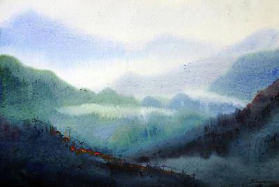 Painting - Beauty Of Himalaya Landscape by Samiran Sarkar