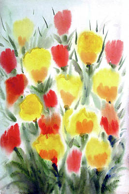 Painting - Beauty Of Poppies by Samiran Sarkar