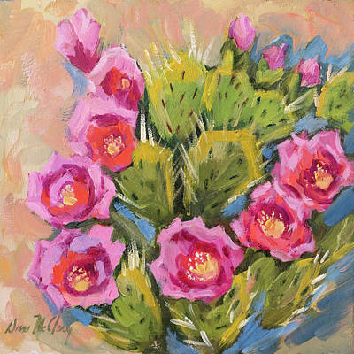 Painting - Beavertail Cactus by Diane McClary