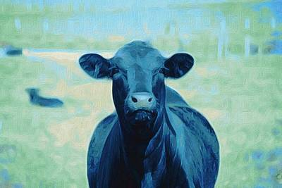 Mixed Media - Because Cows by Michele Carter