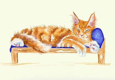 Painting - Bed Time by Debra Hall