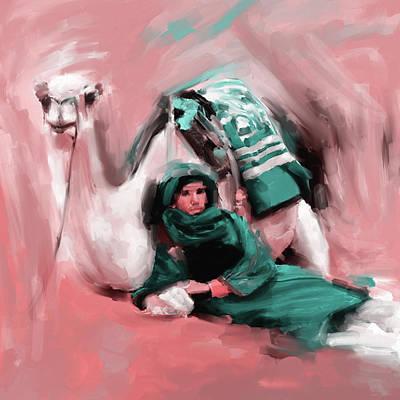 Bedouin Painting - Bedouin Man 679 1 by Mawra Tahreem