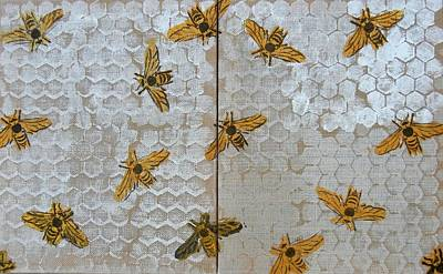 Mixed Media - Bee Happy by Kruti Shah