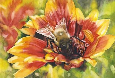 Painting - Bee In A Blanket by Alfred Ng